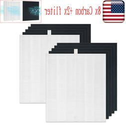 2x HEPA Replacement Filter + 8x Carbon for Coway AP1512HH Ai