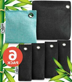 6-Piece Bamboo Charcoal Air Purifying Bags Bundle Pack, Home