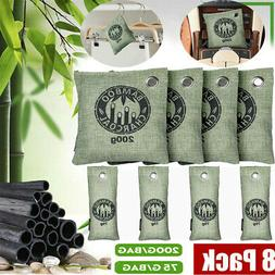 8x Air Purifying Bag Bamboo Charcoal Mold Odor Purifier Fres