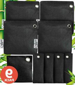 9- Pack Bundle of 50g, 100g and 60g BLACK Activated Bamboo C