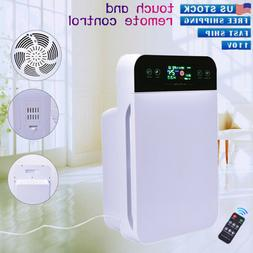 Air Purifier for Home Room with True HEPA Particle Carbon Fi