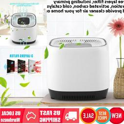 Car Home Office HEPA Filter Touch Ionizer Air Purifiers Home