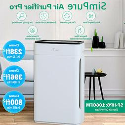 Home True HEPA Air Purifiers XL Large Room Air Cleaner for A