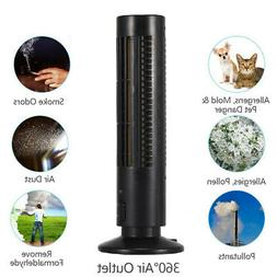 Ionic Air Purifier Cleaner Filter Tower Plasma Ion Home Offi