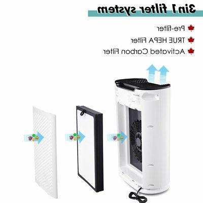 3in1 Home Air Cleaner Purifier HEPA Filter Eater Indoor Remove