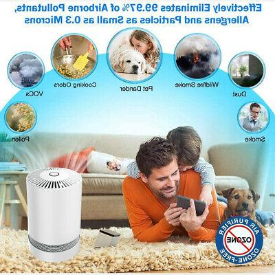 Large Air Purifier with True HEPA Remove Allergies Noise-free
