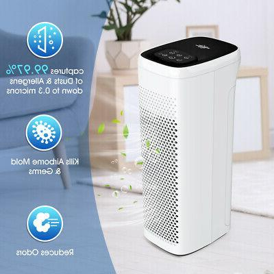 2in1 Portable Air Cooler True HEPA Air Purifier Cooling Fan