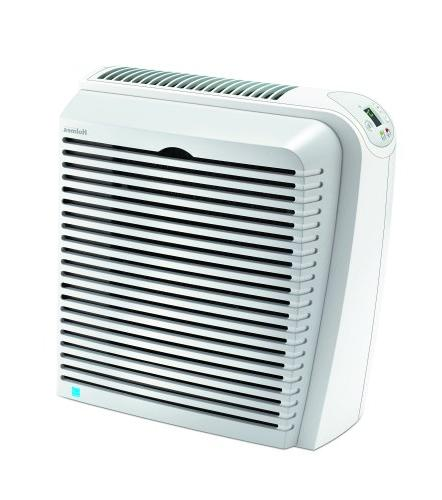 Holmes HEPA Remover Air Purifier Digital Spaces, White