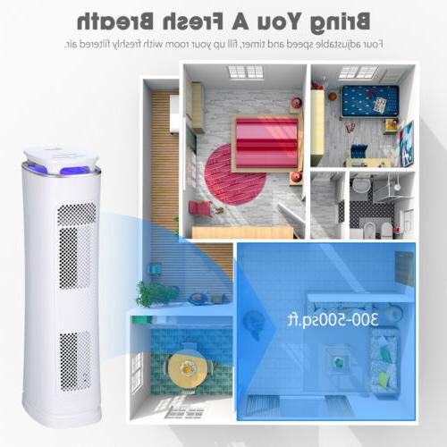 Hepa Air Purifier Cleaner Mosquito Repellent w/ Tower Fan UV Light