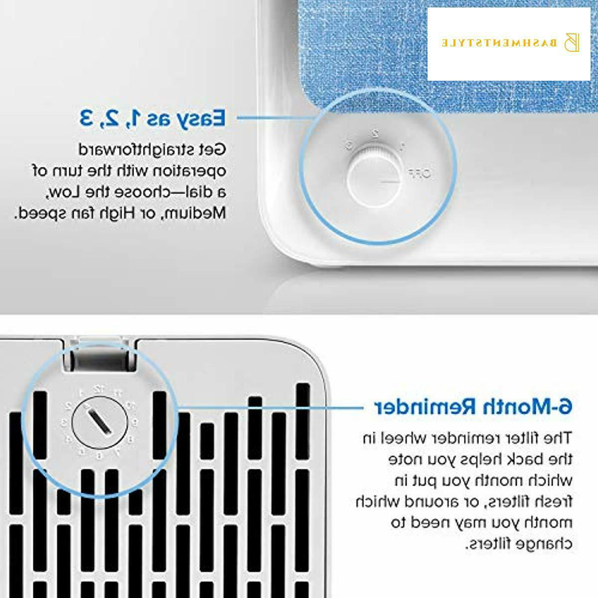 LEVOIT Air Purifiers Home with True HEPA Filter, Compact Air Cleaner Purifie