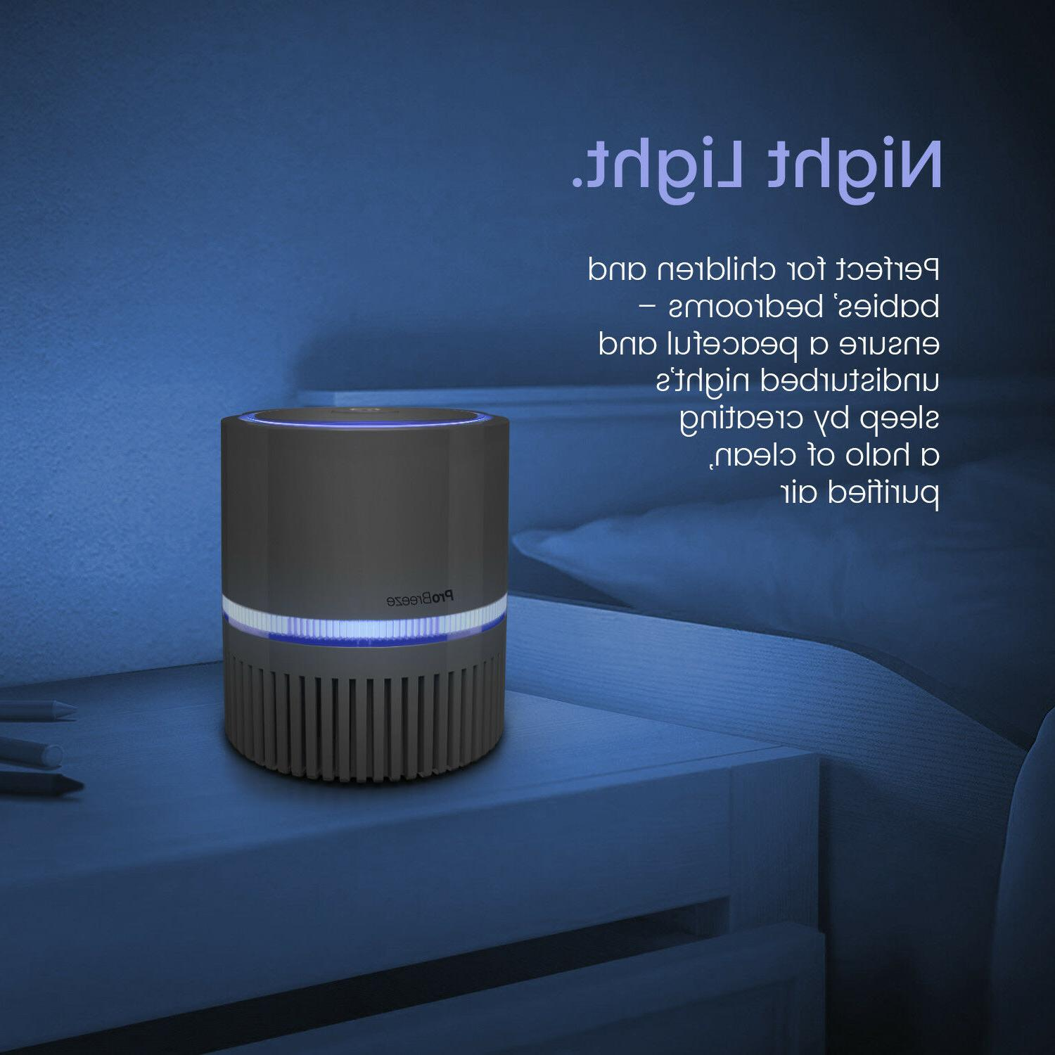 Pro Breeze® Purifier with Filter and Night Light -