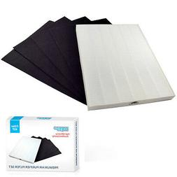 HQRP True HEPA + 4 Carbon Filter Set for Fellowes Aeramax Ai